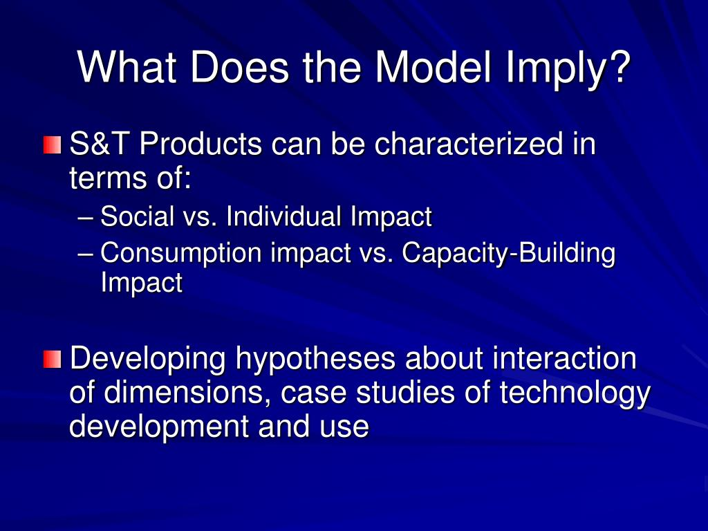 What Does the Model Imply?