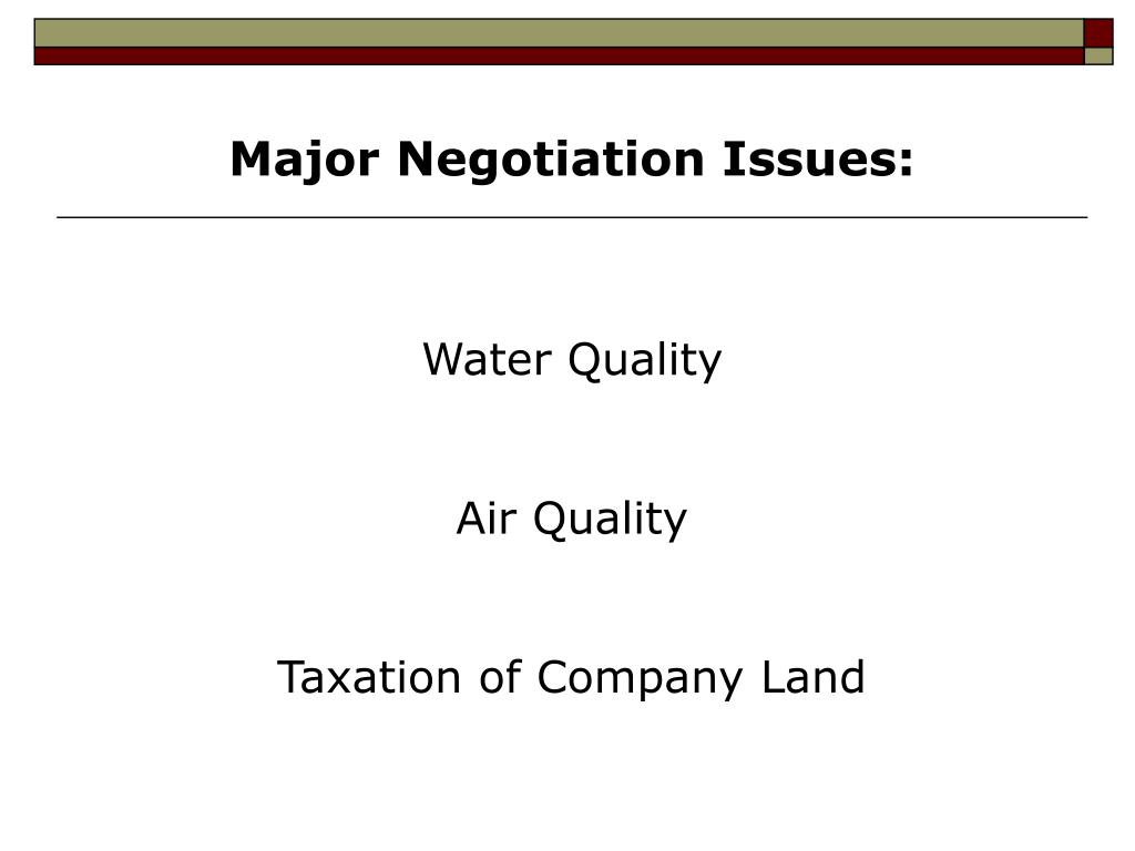 Pre-Negotiation Memorandum&nbspTerm Paper