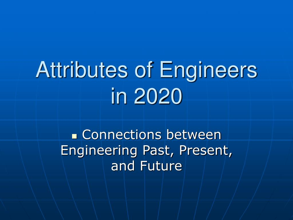 Attributes of Engineers in 2020