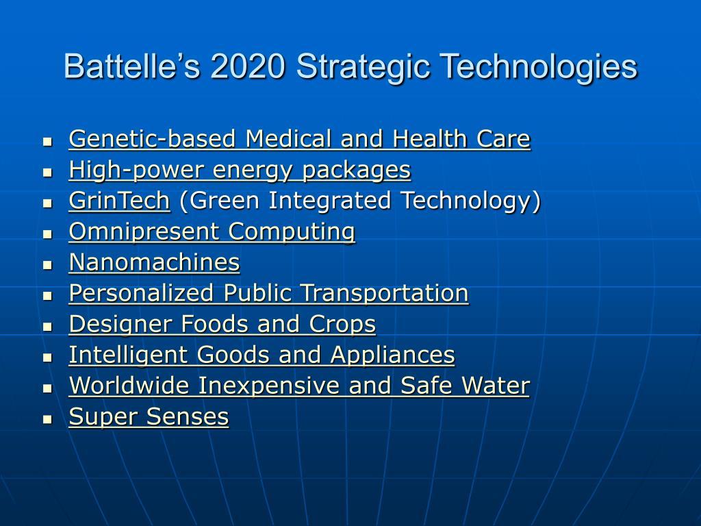 Battelle's 2020 Strategic Technologies