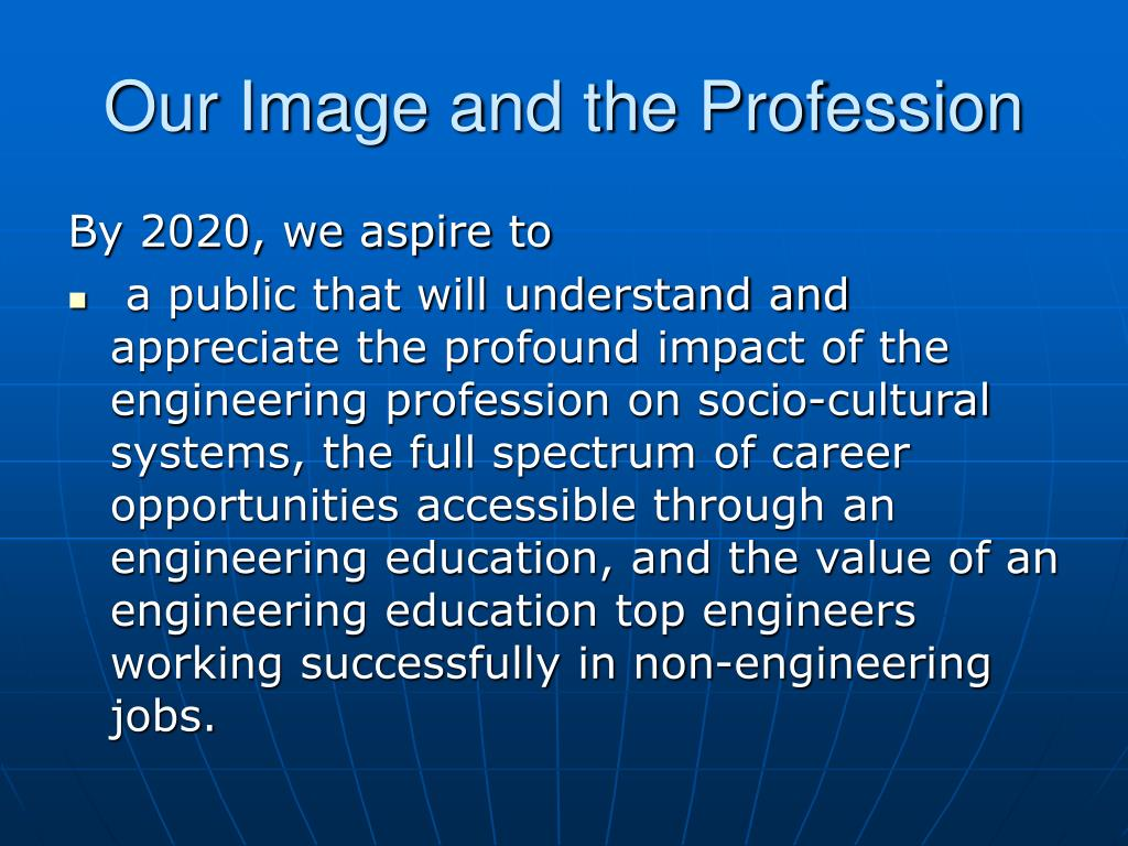 Our Image and the Profession