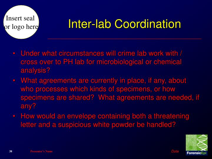 Inter-lab Coordination