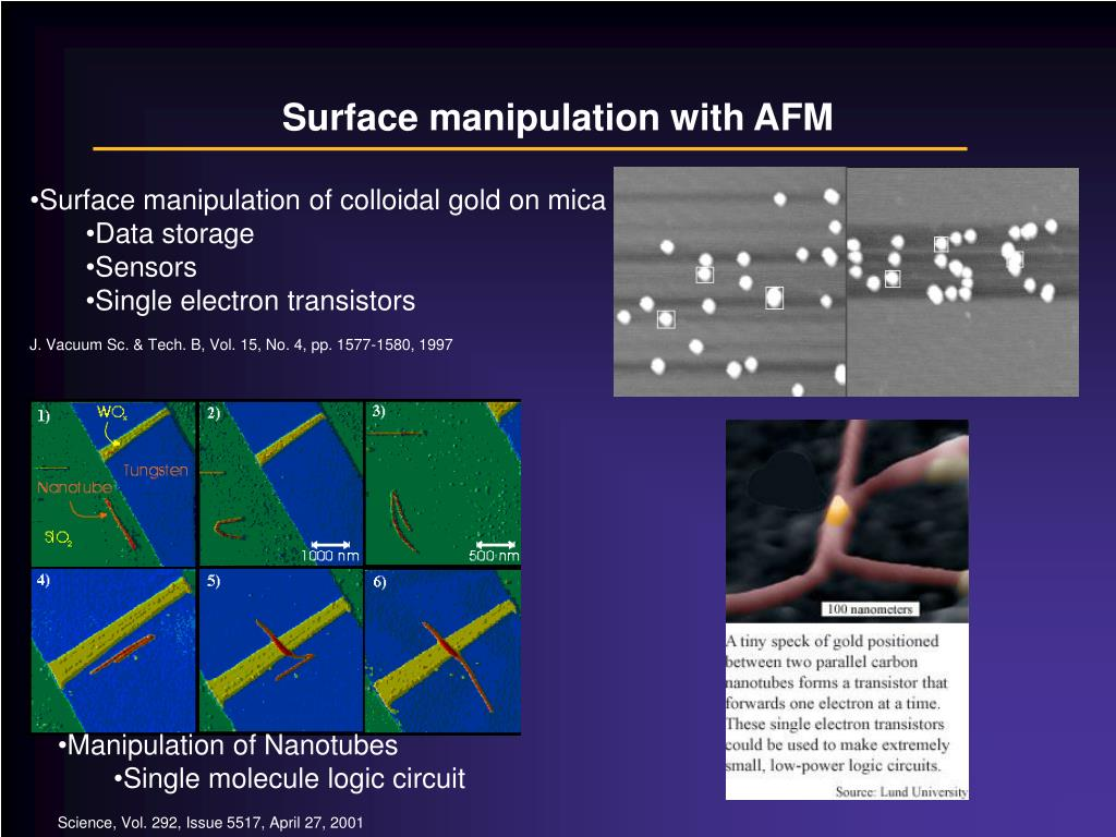 Surface manipulation with AFM