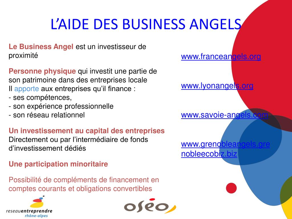 L'AIDE DES BUSINESS ANGELS