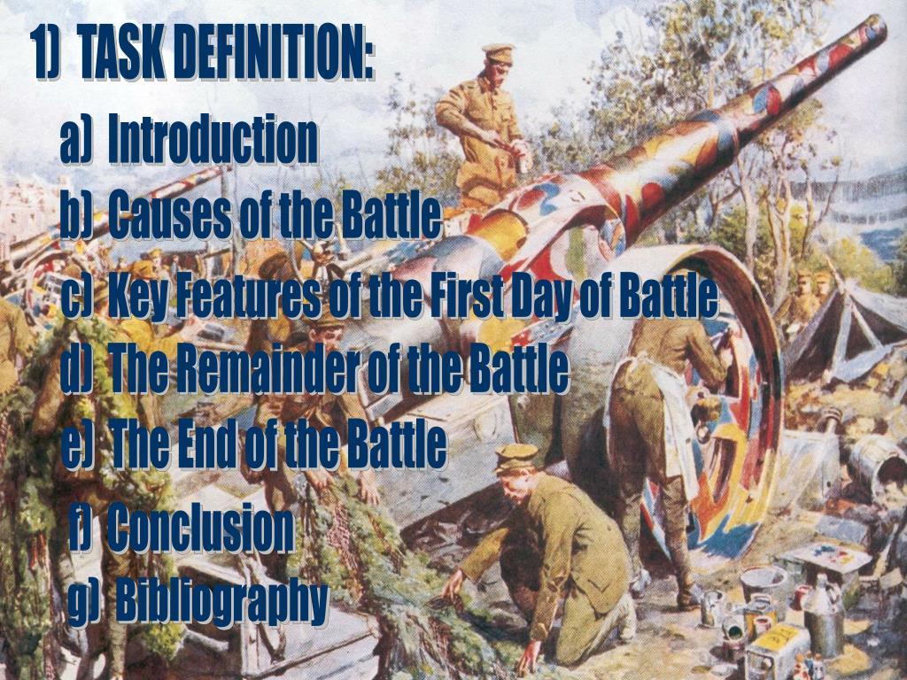 1)  TASK DEFINITION: