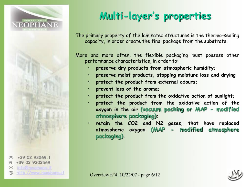 Multi-layer's properties