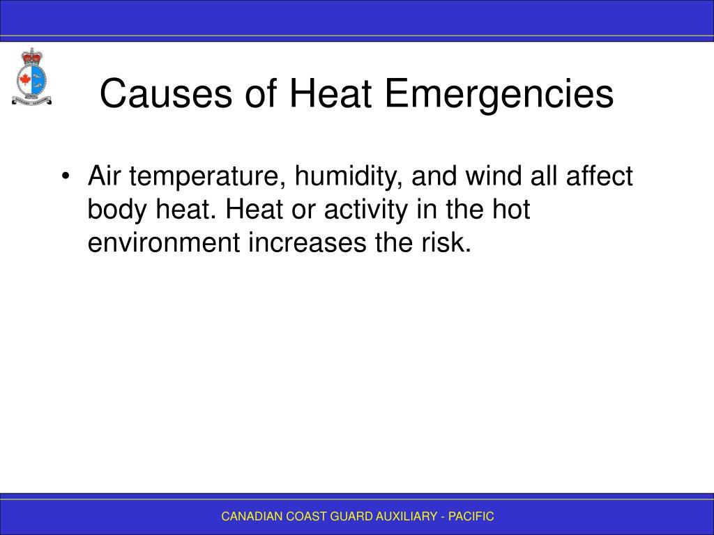 Causes of Heat Emergencies