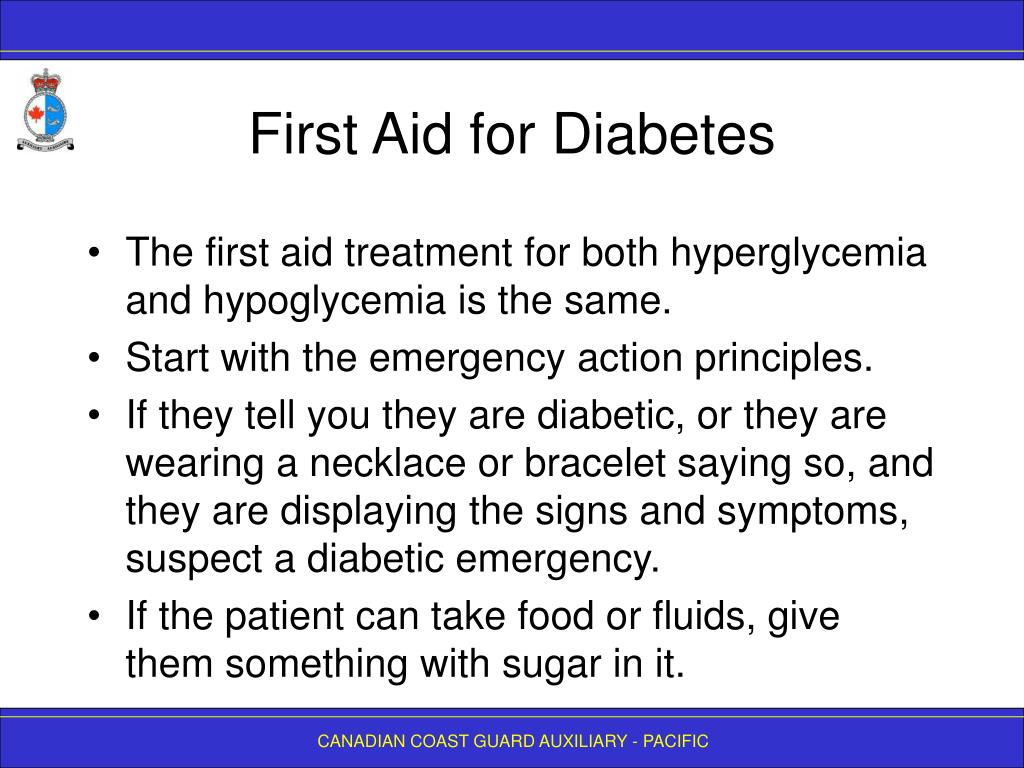 First Aid for Diabetes