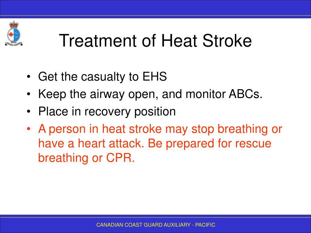 Treatment of Heat Stroke