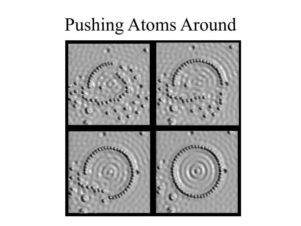 Pushing Atoms Around