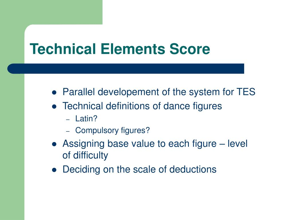 Technical Elements Score
