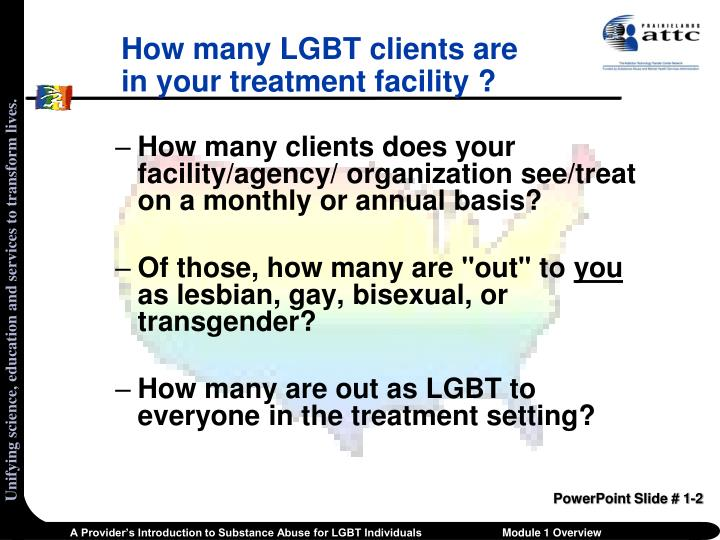 How many lgbt clients are in your treatment facility