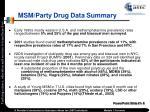 msm party drug data summary