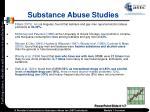 substance abuse studies