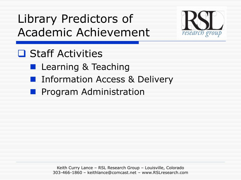 Library Predictors of