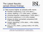 the latest results sample illinois findings