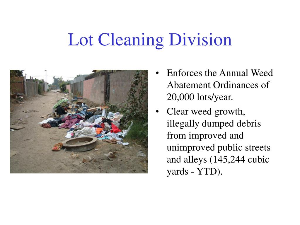 Lot Cleaning Division