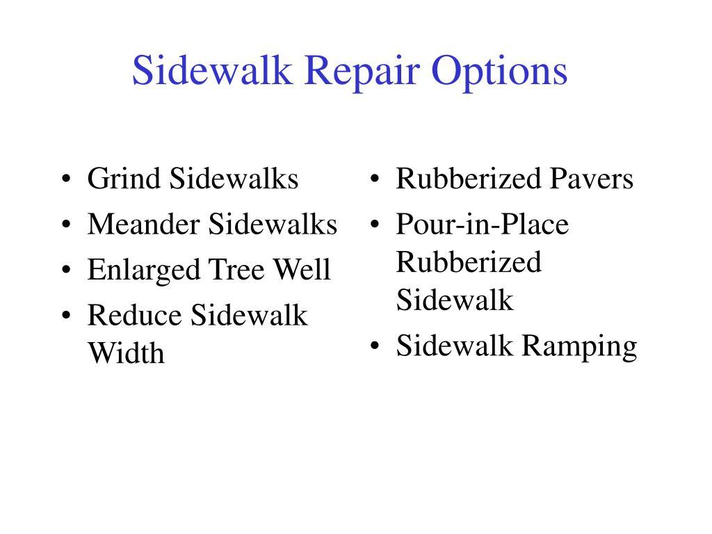 Grind Sidewalks