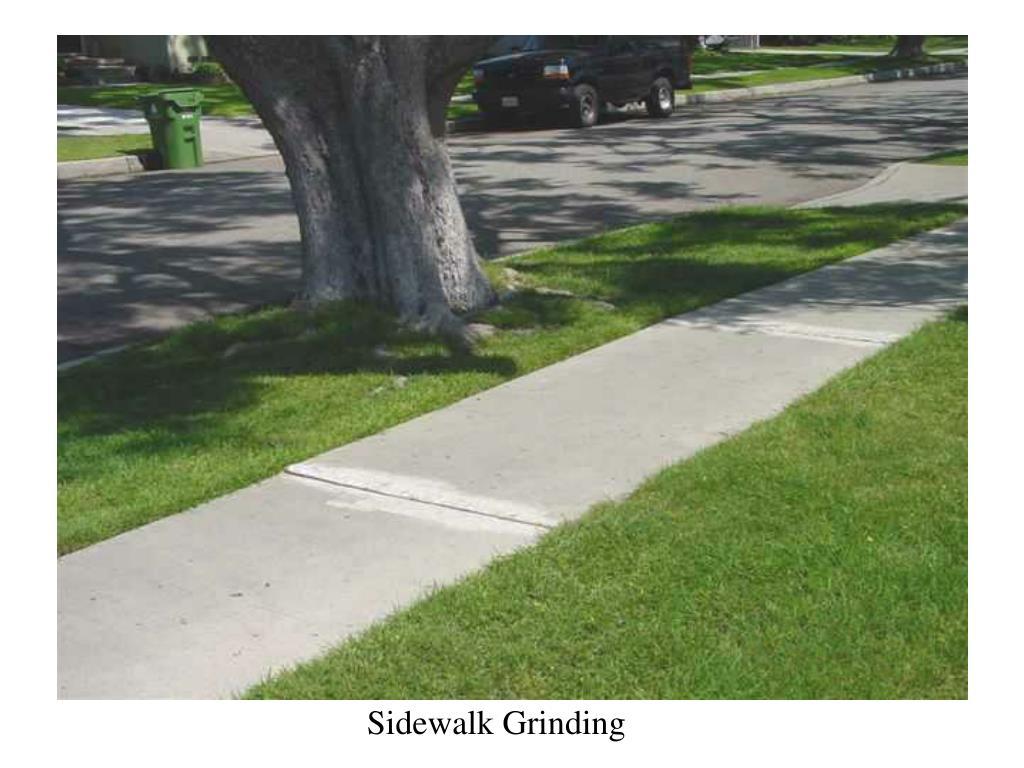 Sidewalk Grinding