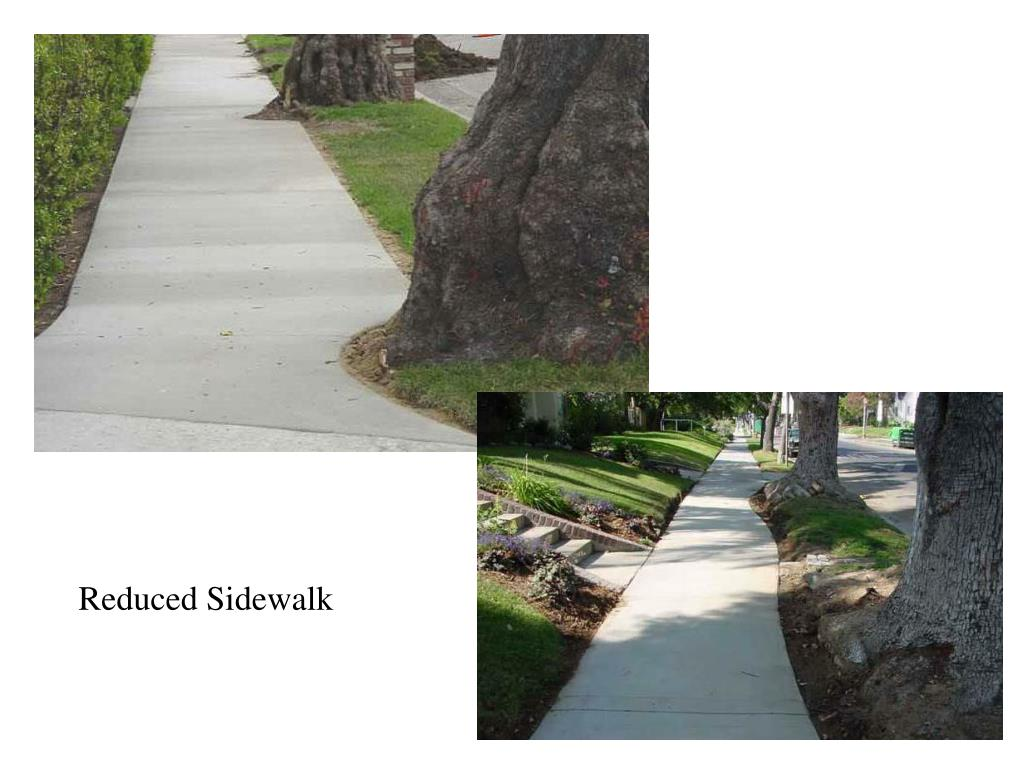 Reduced Sidewalk