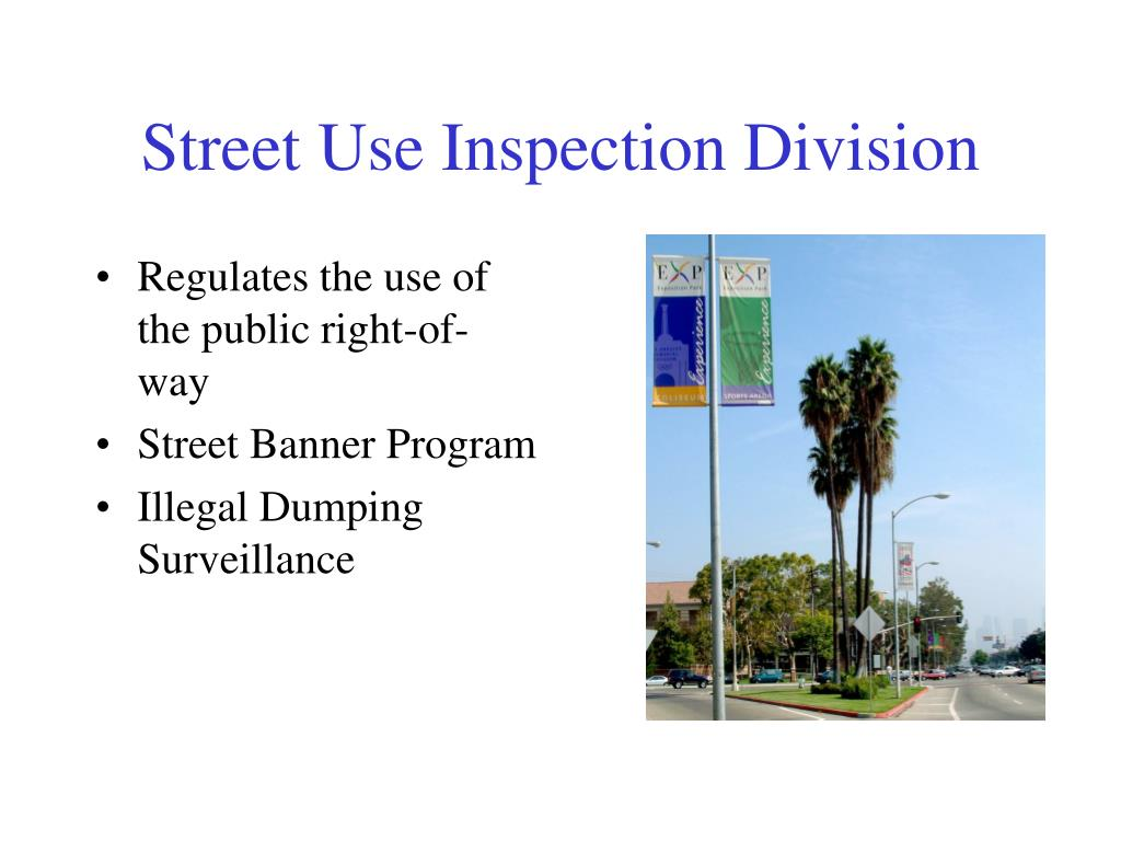 Street Use Inspection Division