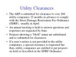 utility clearances