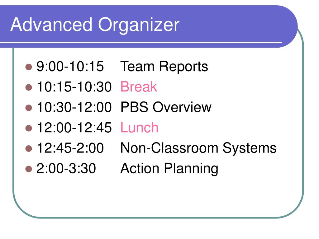Advanced Organizer