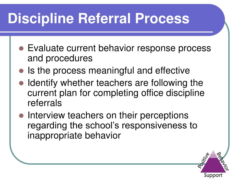 Discipline Referral Process