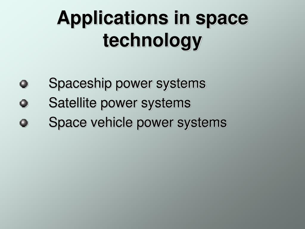 Applications in space technology
