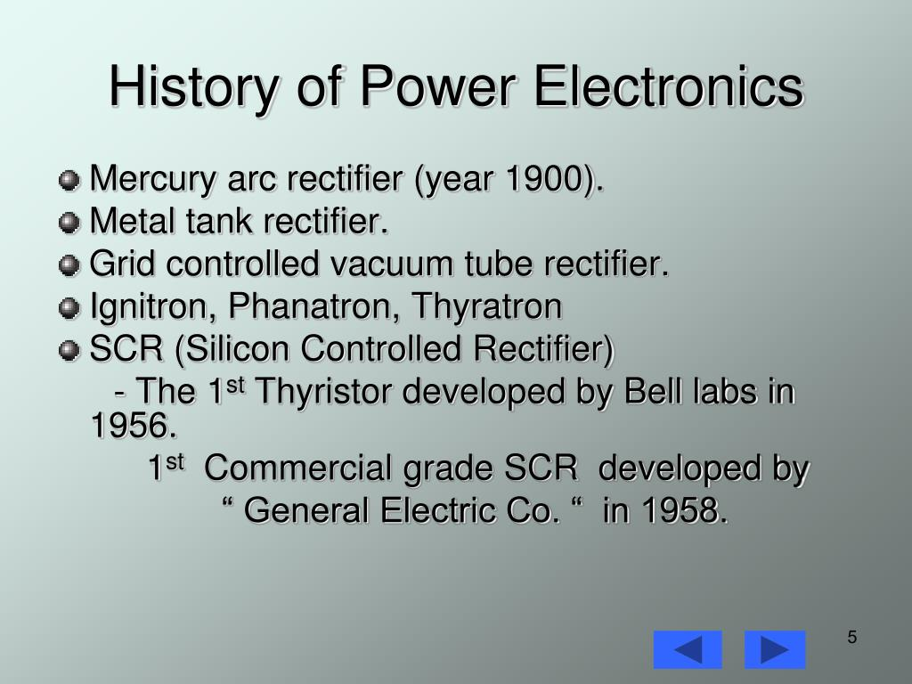 History of Power Electronics