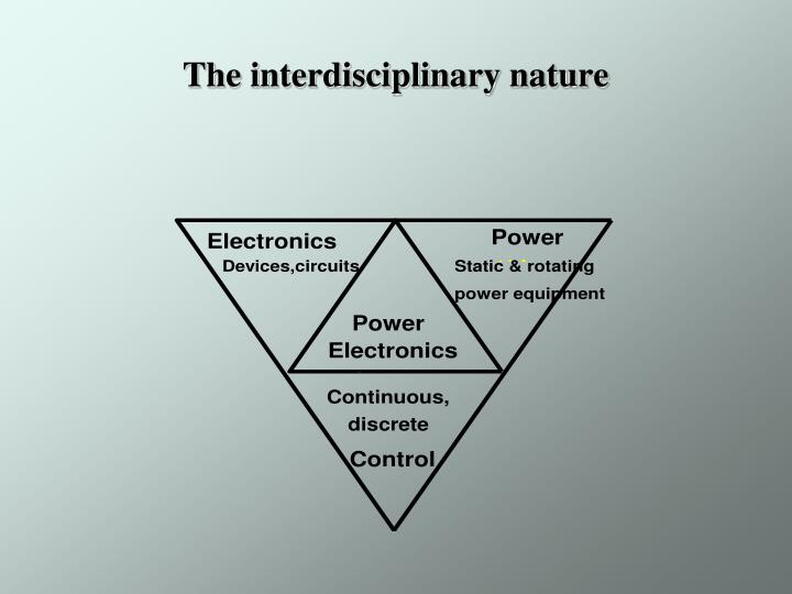 The interdisciplinary nature
