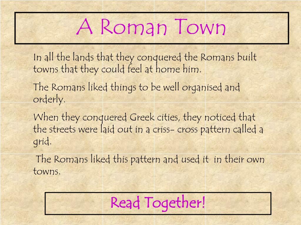 A Roman Town