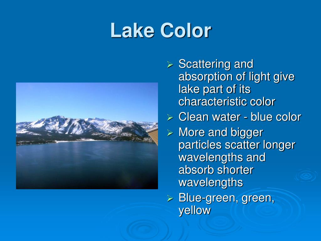 Lake Color