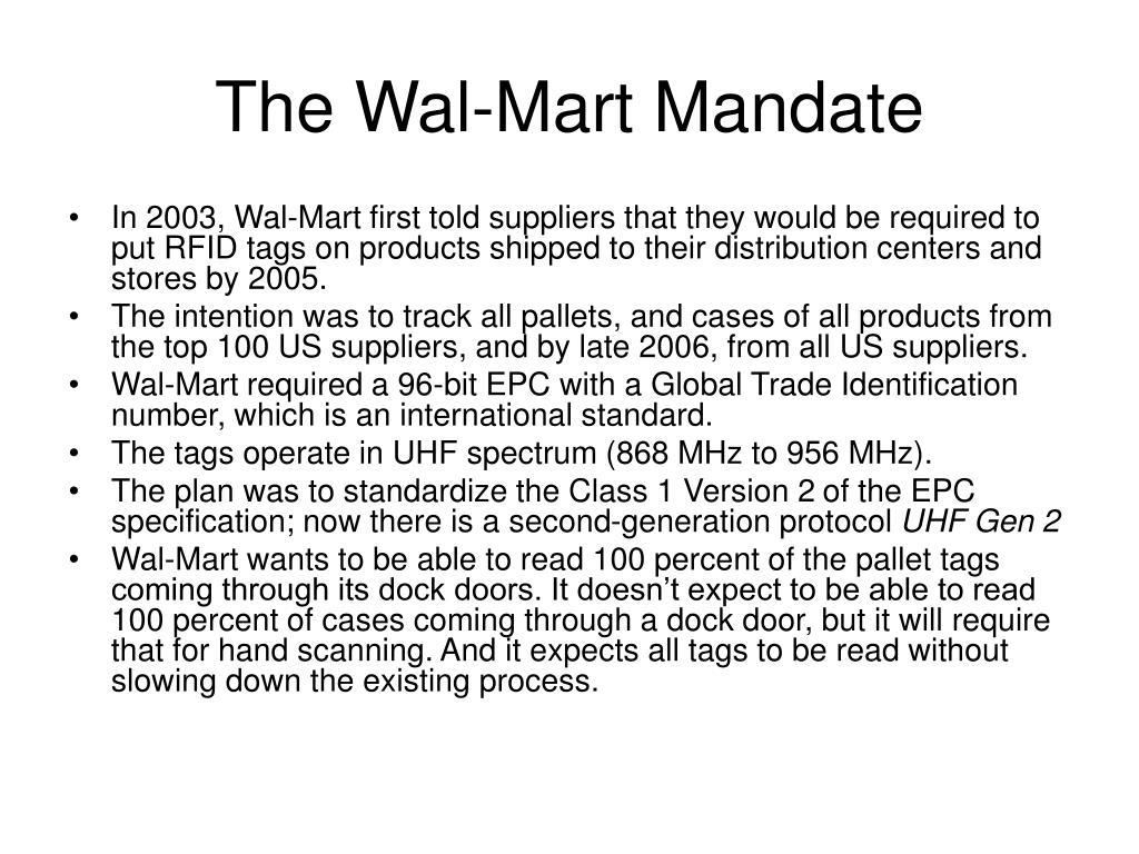 The Wal-Mart Mandate