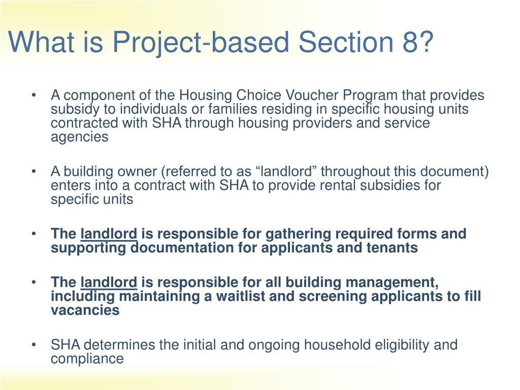 Project based section 8