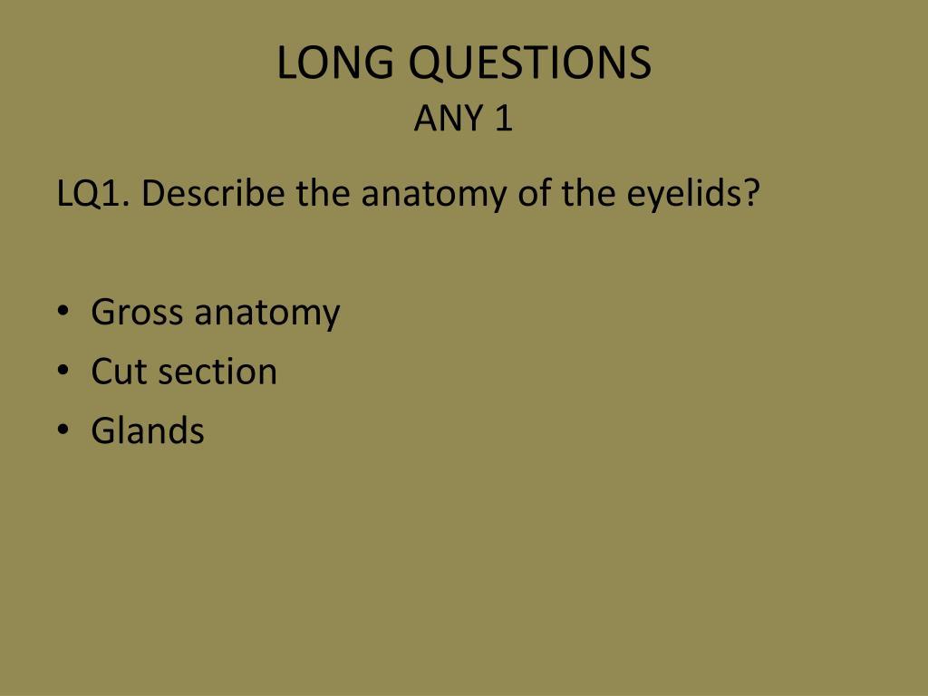 LONG QUESTIONS