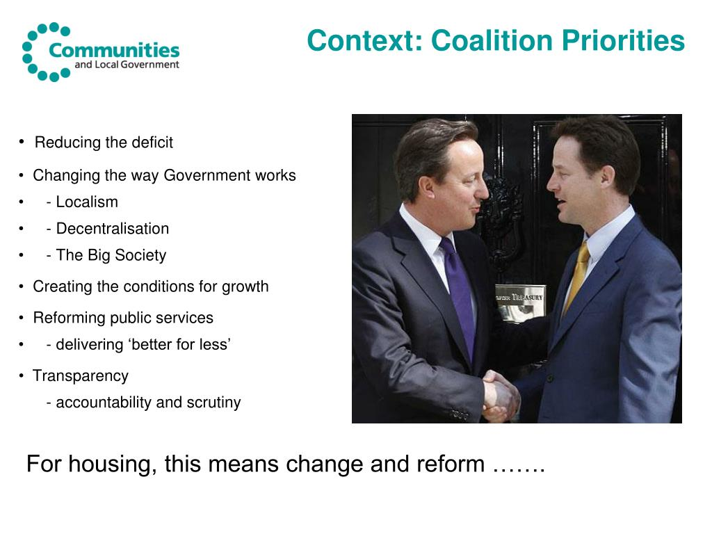 Context: Coalition Priorities