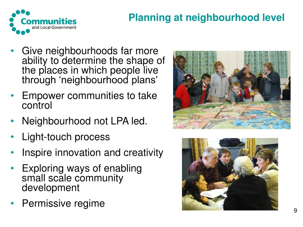 Planning at neighbourhood level