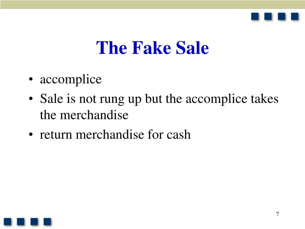 The Fake Sale