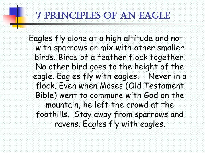 7 principles of an eagle2