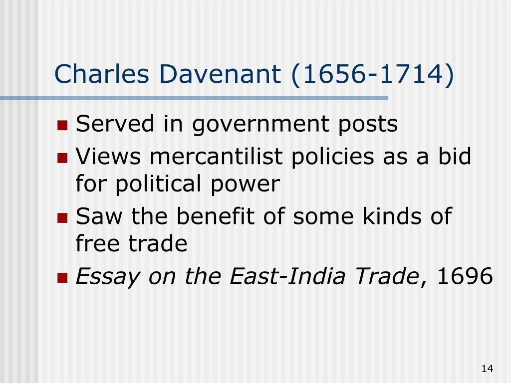 Charles Davenant (1656-1714)