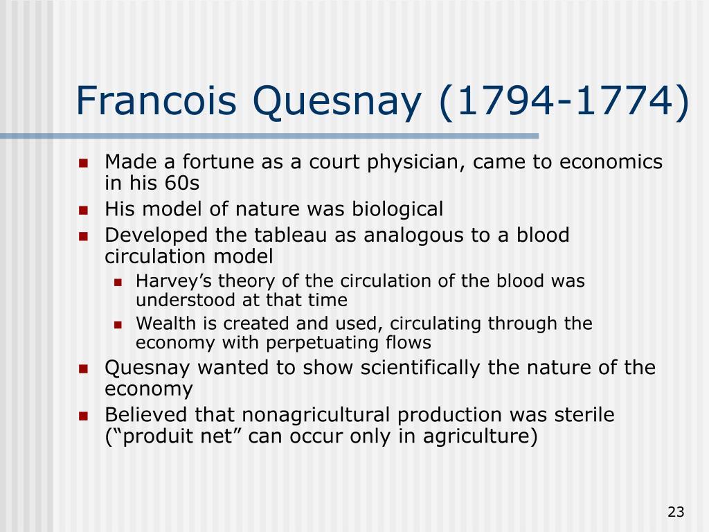 Francois Quesnay (1794-1774)