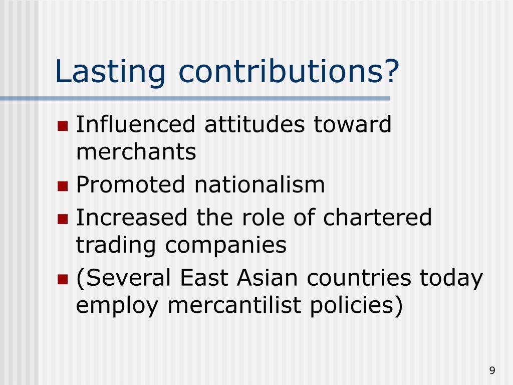Lasting contributions?