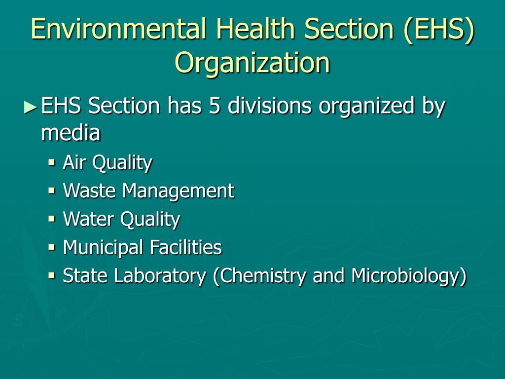 Environmental Health Section (EHS)