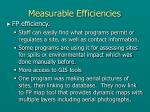 measurable efficiencies