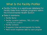 what is the facility profiler