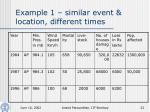 example 1 similar event location different times