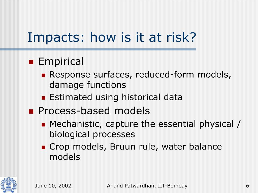Impacts: how is it at risk?