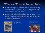 what are wireless laptop labs