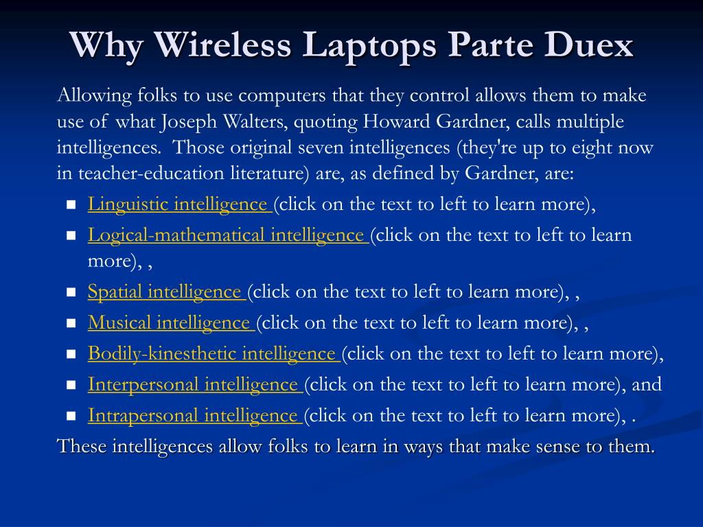 Why Wireless Laptops Parte Duex